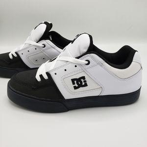 DC Shoes Pure White Black Skate Shoes